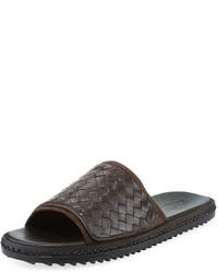 Tommy Bahama Land Crest Leather Slide Sandal