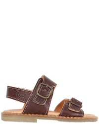 Ocra Buckle Leather Sandals