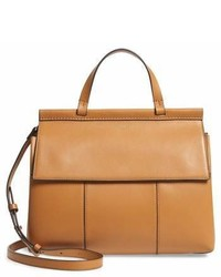 Tory Burch Block T Leather Top Handle Satchel