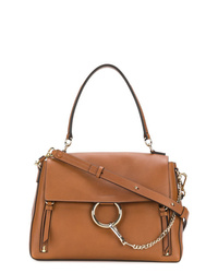 Chloé Brown Faye Leather Shoulder Bag