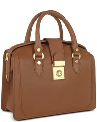Brown italian leather doctor bag medium 270717