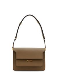 Marni Brown Saffiano Medium Trunk Bag