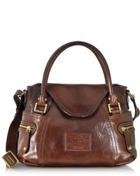 The Bridge Icons Gaucho Small Leather Satchel Wshoulder Strap