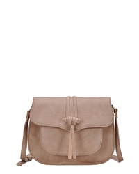 ANTIK KRAFT Knotted Faux Leather Saddle Bag