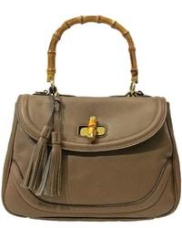 Leather Country Taupe Leather Satchel