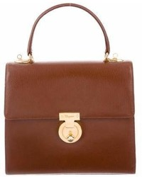 Salvatore Ferragamo Leather Top Handle Bag