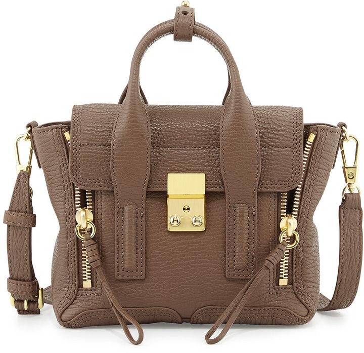 3 1 Phillip Lim Pashli Mini Leather Satchel Bag Taupe