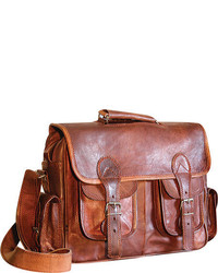 Sharo Genuine Leather Bags Four Pocket Satchel