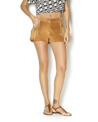 Plenty Leather Fringed Short