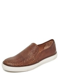 Frye Gates Woven Leather Slip On Sneakers
