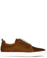 Pierre Hardy Slider Velvet Sneakers