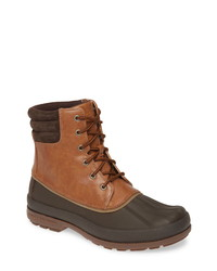 Brown Leather Snow Boots