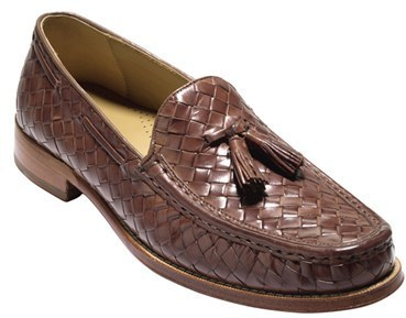 4dbea715c44 ... Brown Leather Tassel Loafers Cole Haan Brady Woven Leather Tassel Loafer  ...