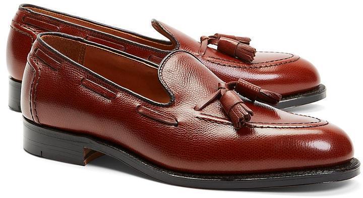 Brooks Brothers Textured Tassel Loafers