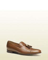 Gucci Leather Loafer With Bamboo Tassels