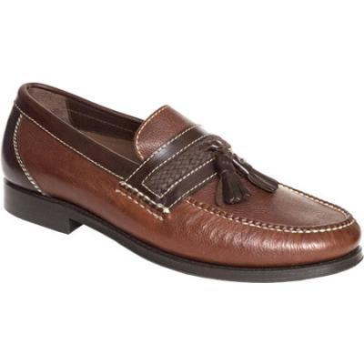 ... Neil M Fairbanks Walnut Leather Tassel Loafers