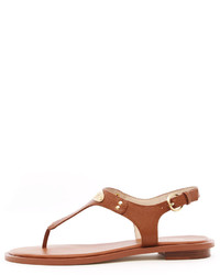 e001967ec1f2 Women s Brown Leather Thong Sandals by MICHAEL Michael Kors ...