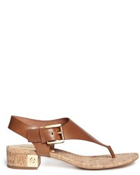 bfb996109230 ... MICHAEL Michael Kors Michl Michl Kors London Leather Cork Thong Sandals