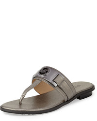 97c490ef13f6 Michl Michl Kors Sondra Logo Thong Sandal Brown Out of stock · MICHAEL  Michael Kors Michl Michl Kors Warren Saffiano Thong Sandal Gunmetal