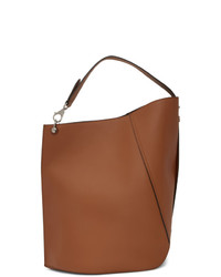 Lanvin Brown Large Hook Tote