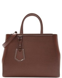 Fendi Brown Leather Large 2jours Convertible Tote Bag