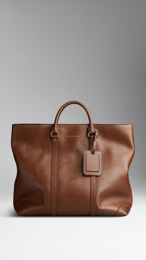 ... Brown Leather Tote Bags Burberry Leather Tote Bag ... 8d250ea5d56a2