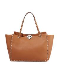 Valentino Garavani The Medium Textured Leather Trapeze Bag