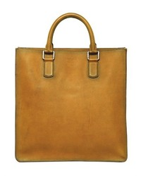 Giorgio Armani Brushed Saffiano Leather Tote Bag