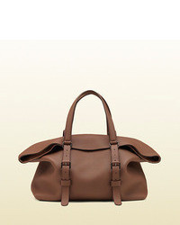 Gucci Leather Top Handle Duffle Bag