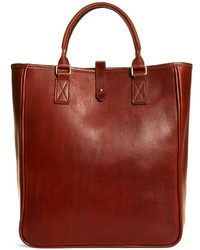 Brooks Brothers Jw Hulme Leather North South Tote Bag