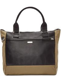 Khaki nylon leather tote medium 596393