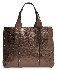 Jimmy Choo Lockett Metallic Leather Shopper Brown