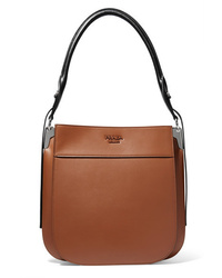 Prada Margit Two Tone Leather Shoulder Bag