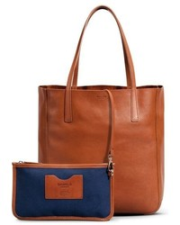 Shinola Medium Leather Shopper Tote Black