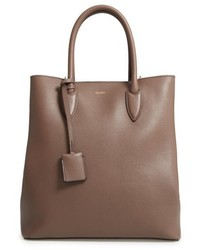 Pebbled leather shopper brown medium 5208832