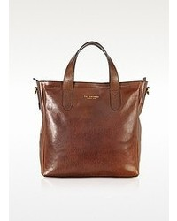 The Bridge Sfoderata Large Dark Brown Leather Tote
