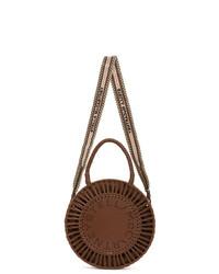 Stella McCartney Tan Alter Nappa Medium Round Woven Bag