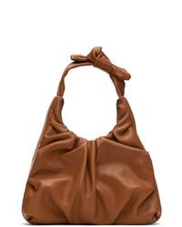 Staud Tan Leather Palm Bag