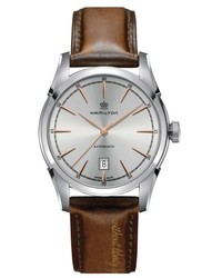 Hamilton American Classic Automatic Leather Strap Watch 42mm