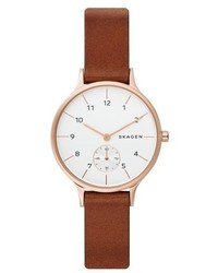 Anita leather strap watch 34mm medium 4952840