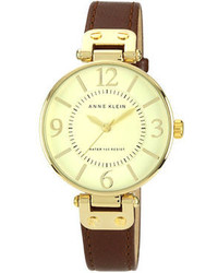 Anne Klein Ladies Brown Leather Watch