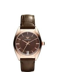 Armani Classic Brown Leather Strap Watch