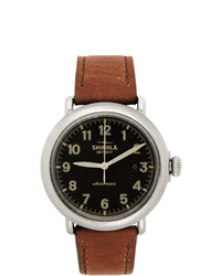 Shinola Black And Tan The Runwell Automatic 45mm Watch