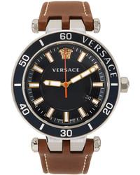 Versace Blue Brown Greca Sport Watch