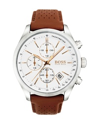 Hugo Boss Grand Prix Chronograph Leather Watch