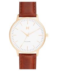 MVMT Boulevard Leather Watch