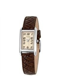 Caravelle By Bulova 43l114 Brown Leather Strap Watch