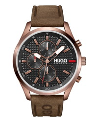 BOSS Chase Chronograph Leather Watch