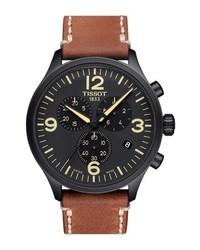 Tissot Chrono Xl Leather Strap Chronograph Watch