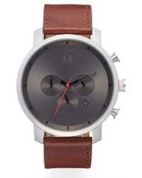 MVMT Chronograph Leather Strap Watch 45mm